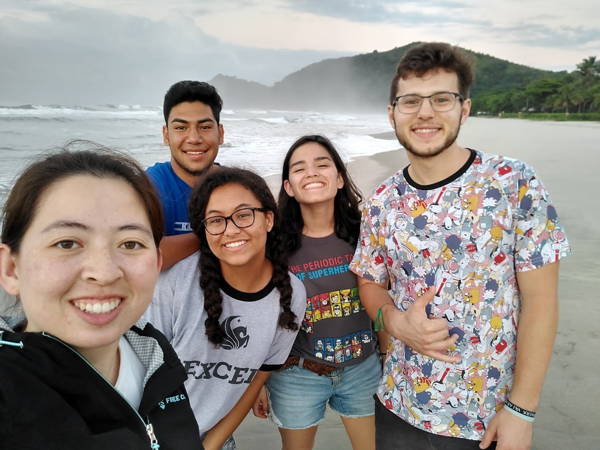 Brazil students at the beach