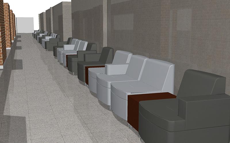 BHC hallway (rendering)
